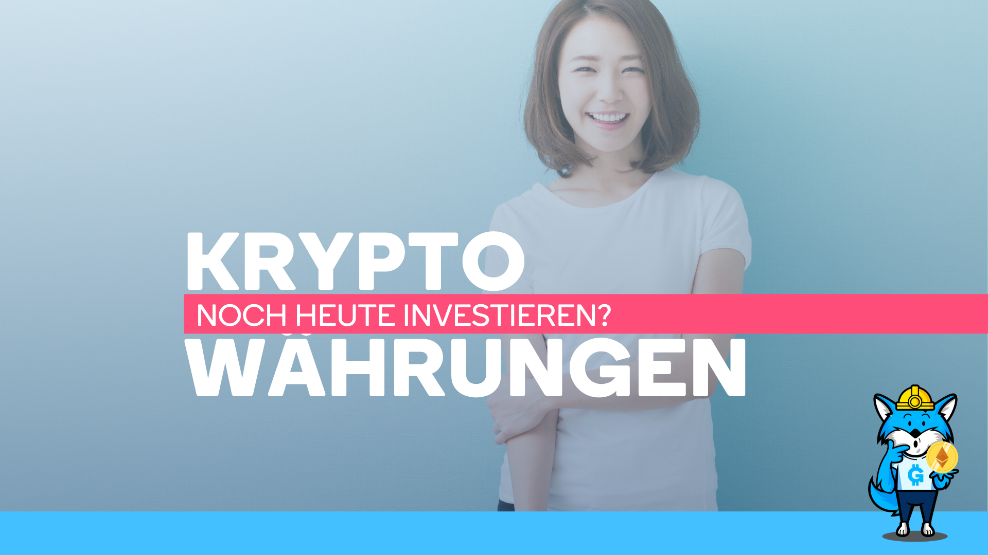 Asiatische Frau überlegt in Kryptowährungen zu investieren