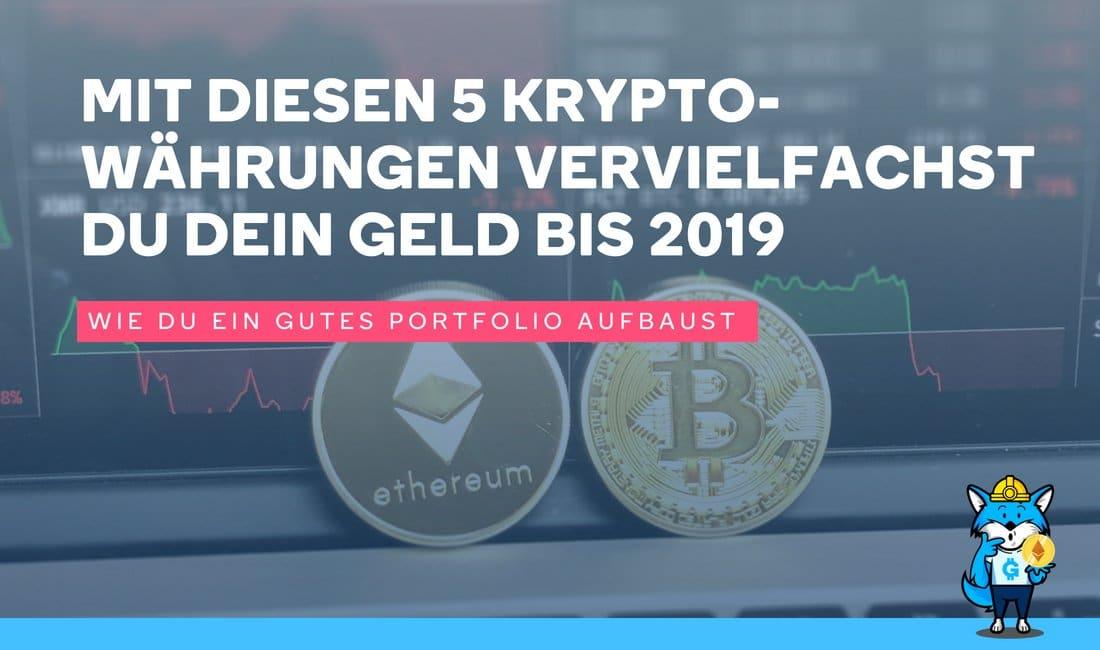 Top-5 Kryptowährungen für Investierung