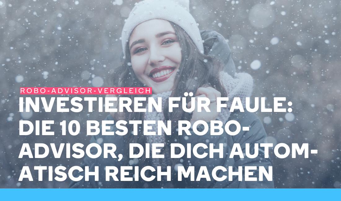 Eine Frau lacht, weil sie mit einem Robo-Advisor investiert
