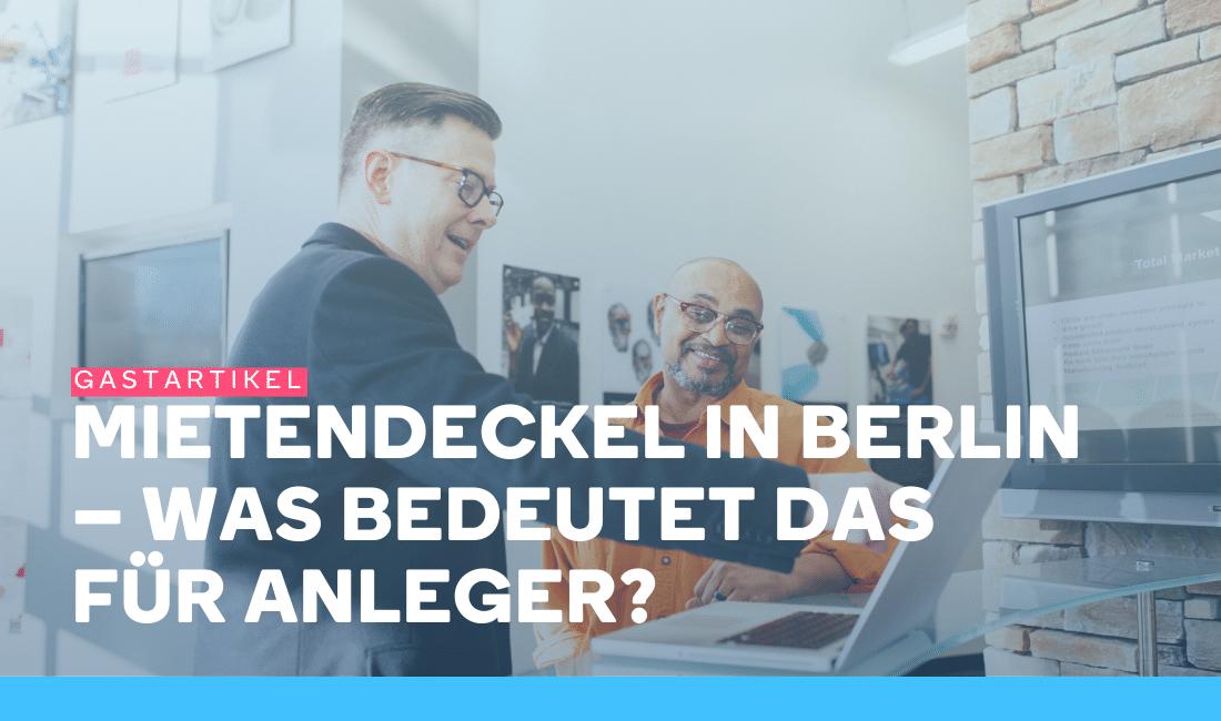 Zwei Personen diskutieren den Mietendeckel in Berlin