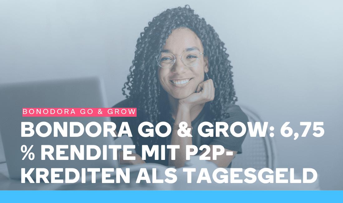 Frau surft auf Bondora Go & Grow