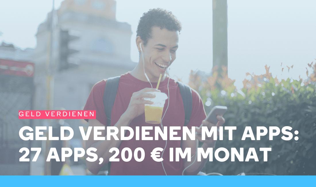 Mann verdient Geld mit Apps