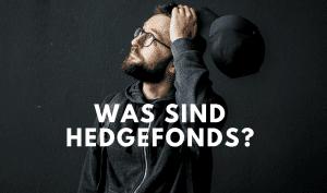 Mann denkt über Hedgefonds nach