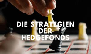 Mann spielt Schach als Versinnbildlichung für Hedgefonds