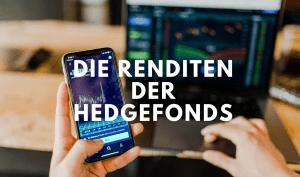 Man zeigt Rendite seiner Hedgefonds