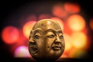 Buddha als Sinnbild, um sich auf seine Gefühle zu fokussieren