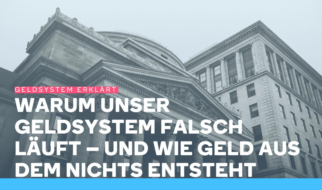 Eine Bank, die das bisherige Geldsystem repräsentiert
