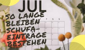 Kalender, wann der Schufa-Eintrag gelöscht wird