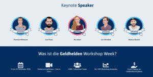 Keynote Speaker der Geldhelden Workshop Week