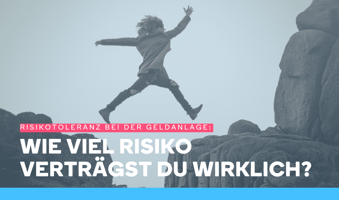 Mann springt über Klippen, was die Risikotoleranz bei der Geldanlage symbolisieren soll