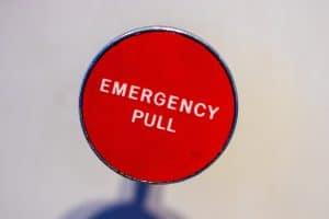 Emergency Button als Sinnbild für den Notgroschen
