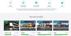 Startseite von Estateguru mit Immobilienprojekten