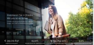 Frau mit Fahrrad auf der Startseite der P2P-Plattform Iuvo
