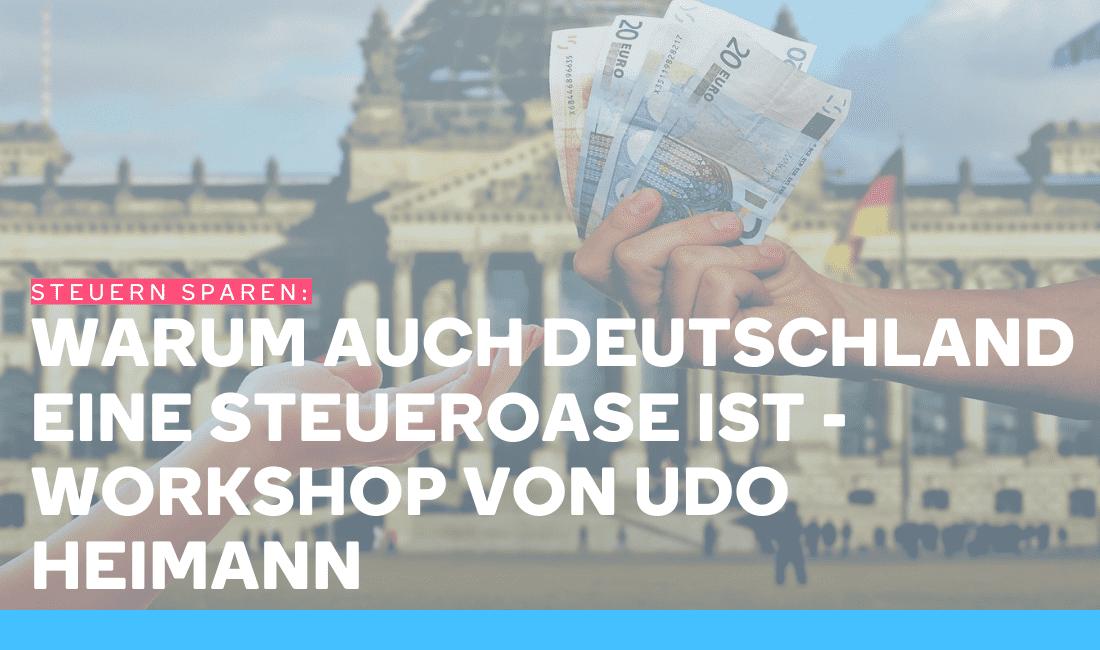 Zwei Menschen vor dem Bundestag übergeben sich Geld