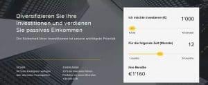 Startseite von Viventor mit Rendite-Rechner