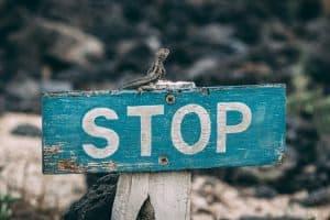 Ein Stop Zeichen