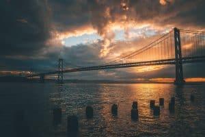 Bay Bridge von San Francisco