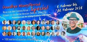 Banner für den Goodbye Hamsterrad Kongress mit allen Speakern und Marco Lachmann-Anke