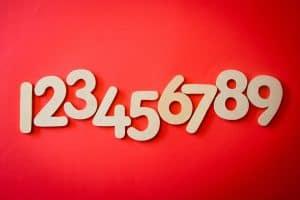 Zahlen von 1 bis 9