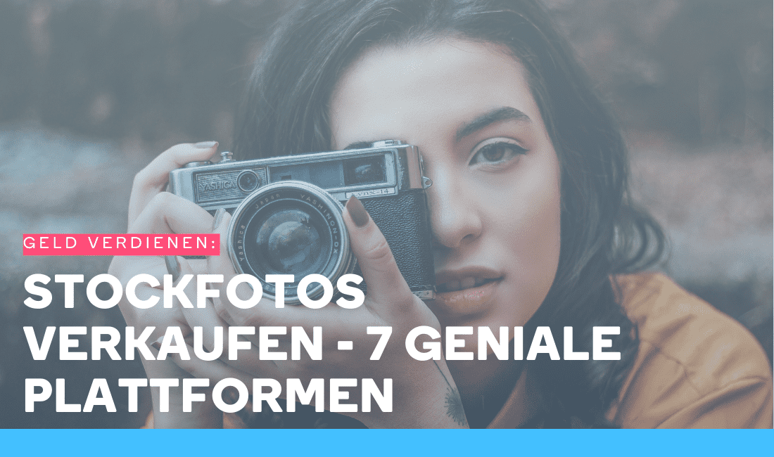 Frau fotografiert mit ihrer Kamera, um Stockfotos zu verkaufen