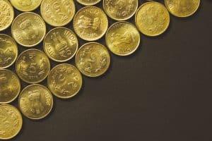 Goldmünzen aus Indien