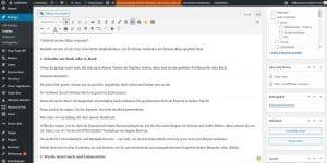 Das WordPress-Backend bei Geldhelden