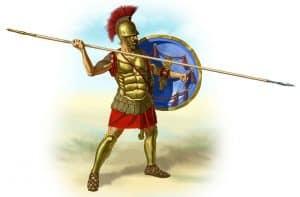 ein griechischer Hoplit