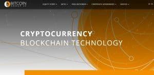 Startseite Bitcoin Group, einer Kryptoaktie