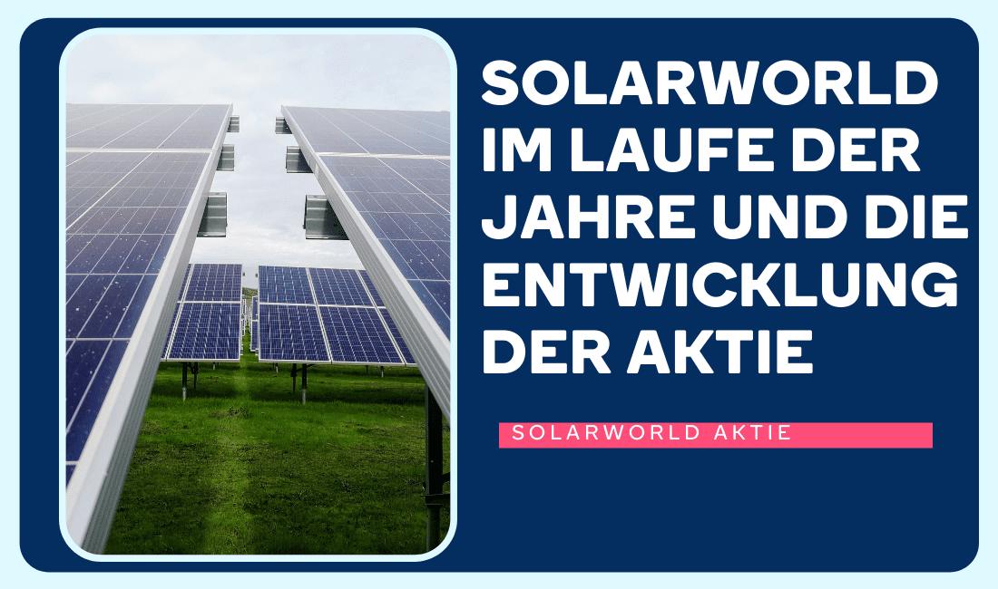 Solaranlagen der Solarworld Aktie