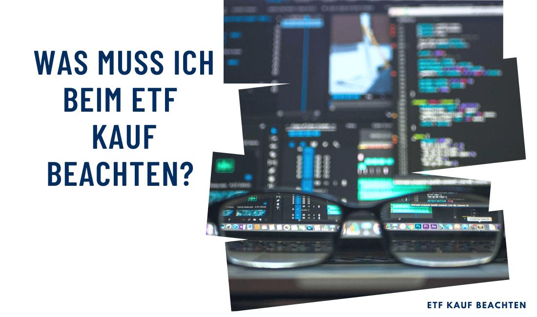 Titelbild: was beim ETF Kauf beachten