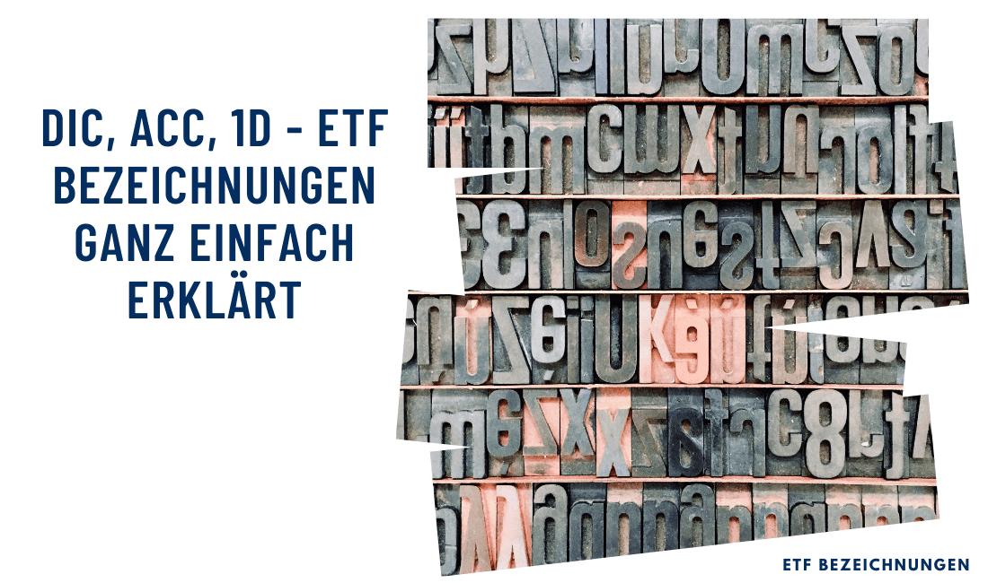 Titelbild: ETF Bezeichnungen